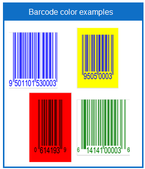 Barcode color examples